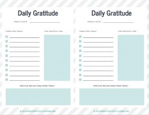Daily Gratitude Printable