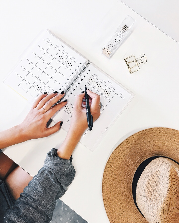Organize to reduce work stress.
