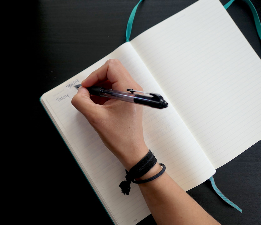 Start writing in your journal.